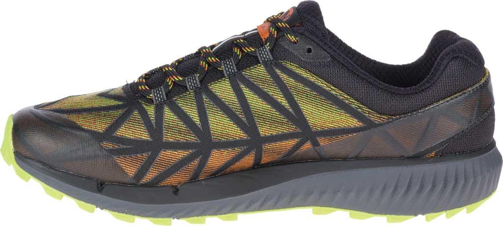 Men's Merrell Agility Synthesis 2 Trail Running Sneaker, HV Black Jacquard Fabric/TPU, large, image 3
