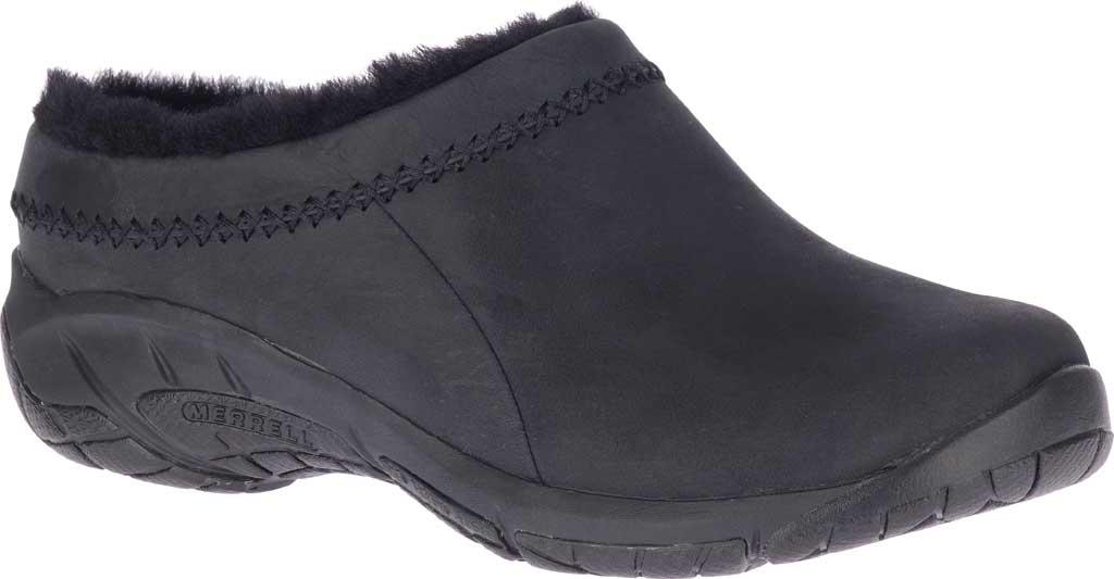 Women's Merrell Encore Ice 4 Leather Slip On, Smooth Black Full Grain Leather, large, image 1