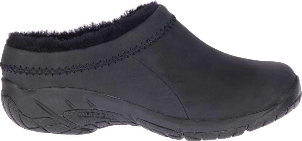 Women's Merrell Encore Ice 4 Leather Slip On, Smooth Black Full Grain Leather, large, image 2