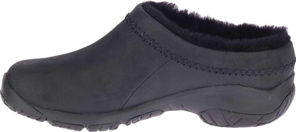 Women's Merrell Encore Ice 4 Leather Slip On, Smooth Black Full Grain Leather, large, image 3