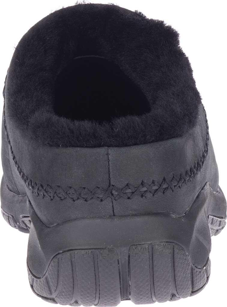 Women's Merrell Encore Ice 4 Leather Slip On, Smooth Black Full Grain Leather, large, image 4