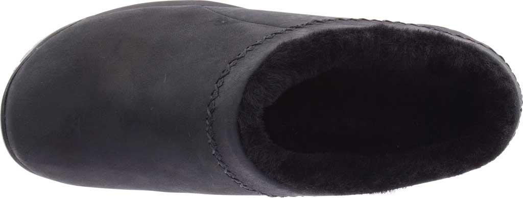 Women's Merrell Encore Ice 4 Leather Slip On, Smooth Black Full Grain Leather, large, image 5