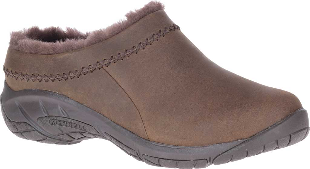 Women's Merrell Encore Ice 4 Leather Slip On, Smooth Espresso Full Grain Leather, large, image 1