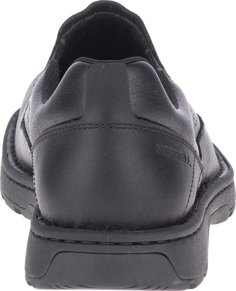 Men's Merrell World Legend 2 Moc Slip On, Black Polish Full Grain Leather, large, image 4