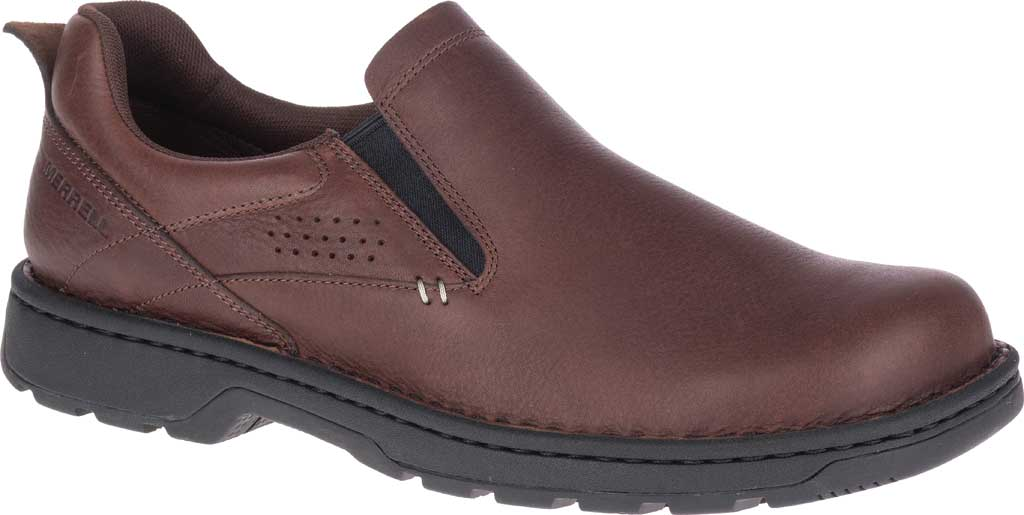 Men's Merrell World Legend 2 Moc Slip On, Chocolate Polish Full Grain Leather, large, image 1