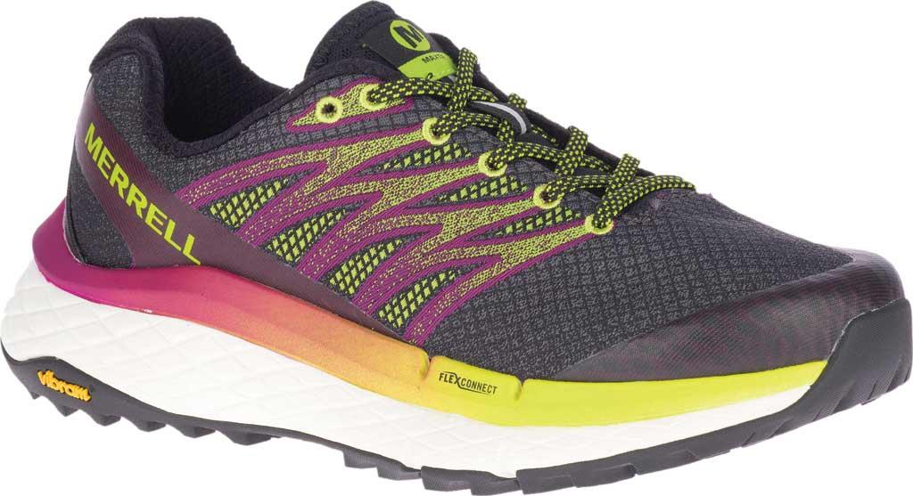Women's Merrell Rubato Trail Running Sneaker, HV Black Jacquard Fabric/TPU, large, image 1