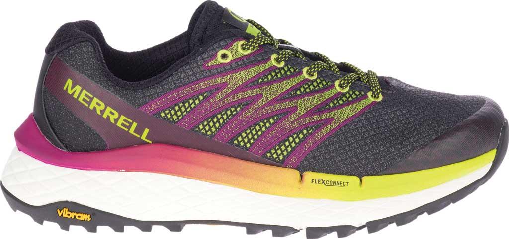 Women's Merrell Rubato Trail Running Sneaker, HV Black Jacquard Fabric/TPU, large, image 2