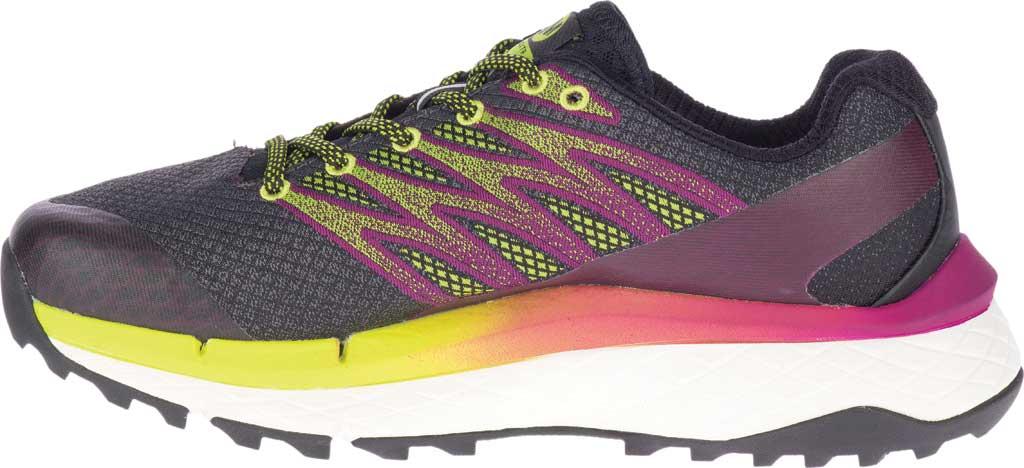 Women's Merrell Rubato Trail Running Sneaker, HV Black Jacquard Fabric/TPU, large, image 3