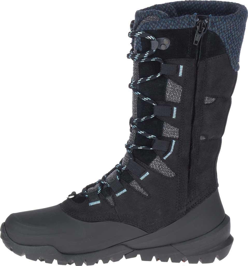Women's Merrell Thermo Aurora 2 Tall Shell Waterproof Boot, Black Waterproof Full Grain Leather/Wool, large, image 3