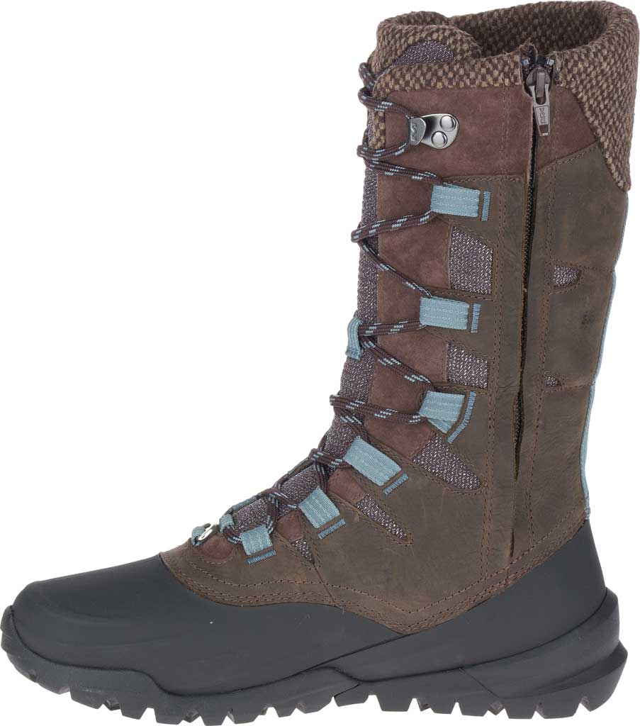 Women's Merrell Thermo Aurora 2 Tall Shell Waterproof Boot, Seal Brown Waterproof Full Grain Leather/Wool, large, image 3