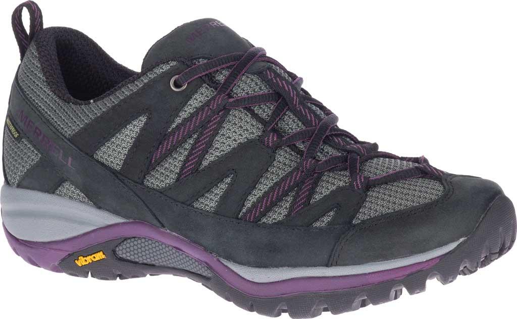 Women's Merrell Siren Sport 3 Waterproof Tail Shoe, Black/Blackberry Waterproof Mesh/Leather, large, image 1