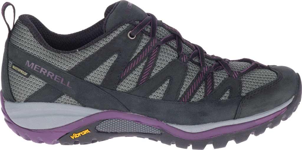 Women's Merrell Siren Sport 3 Waterproof Tail Shoe, Black/Blackberry Waterproof Mesh/Leather, large, image 2