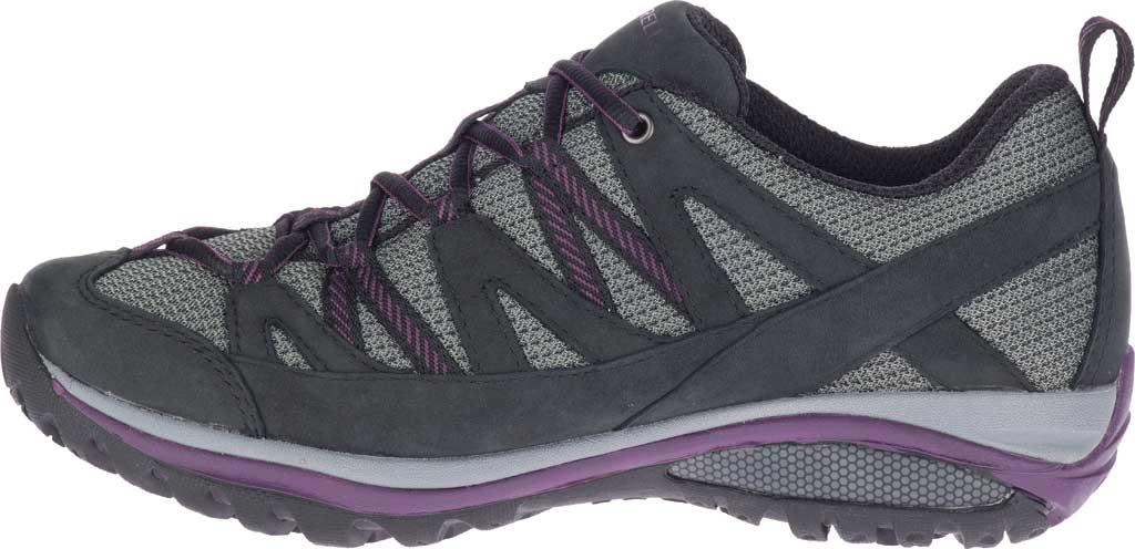 Women's Merrell Siren Sport 3 Waterproof Tail Shoe, Black/Blackberry Waterproof Mesh/Leather, large, image 3