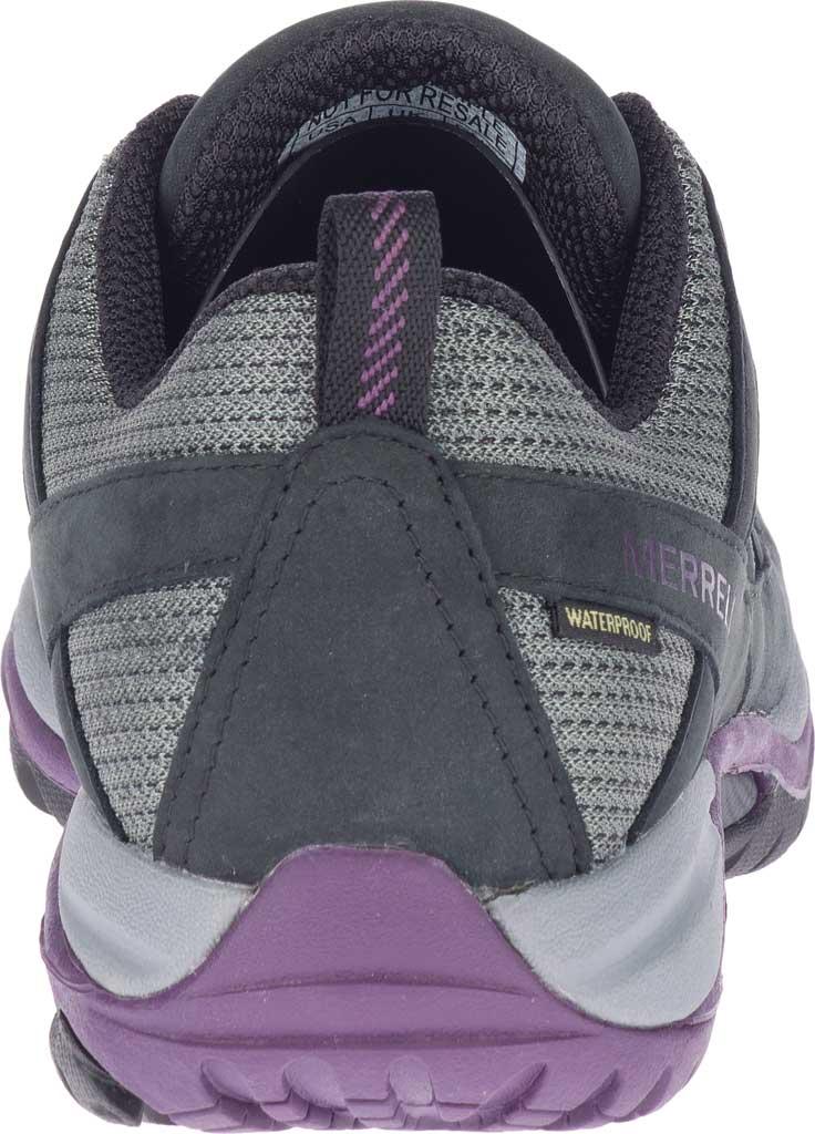 Women's Merrell Siren Sport 3 Waterproof Tail Shoe, Black/Blackberry Waterproof Mesh/Leather, large, image 4