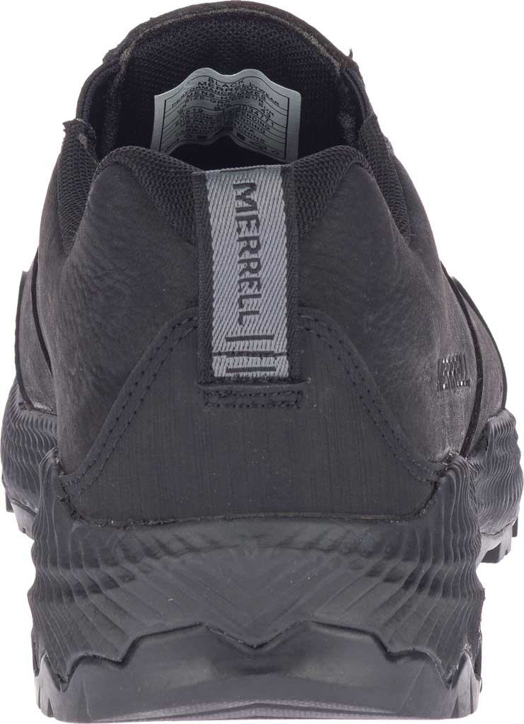 Men's Merrell Forestbound Moc Waterproof Slip On, Black Polyurethane Coated Leather/Mesh, large, image 4