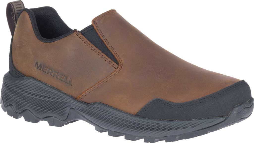 Men's Merrell Forestbound Moc Waterproof Slip On, Clay Polyurethane Coated Leather/Mesh, large, image 1