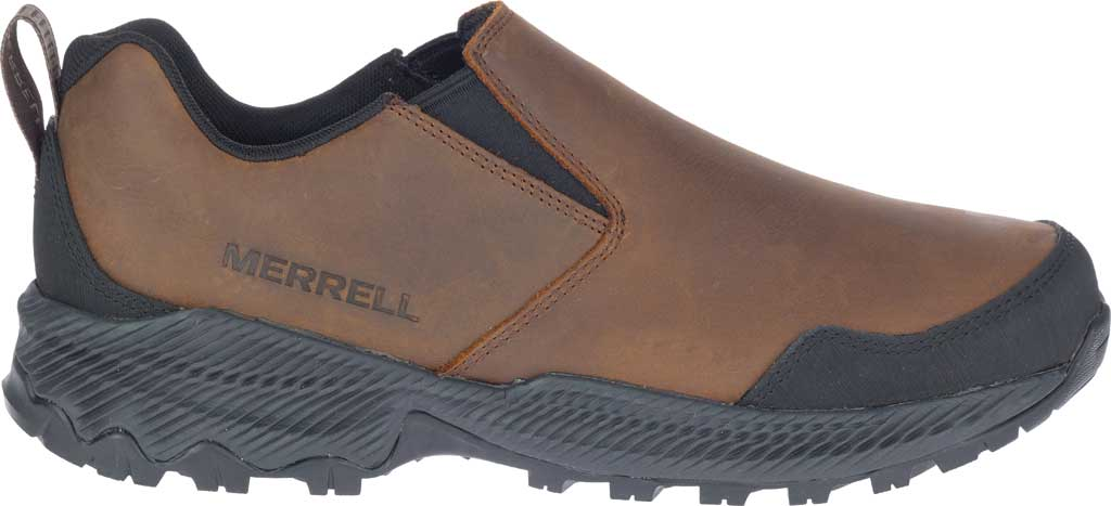 Men's Merrell Forestbound Moc Waterproof Slip On, Clay Polyurethane Coated Leather/Mesh, large, image 2