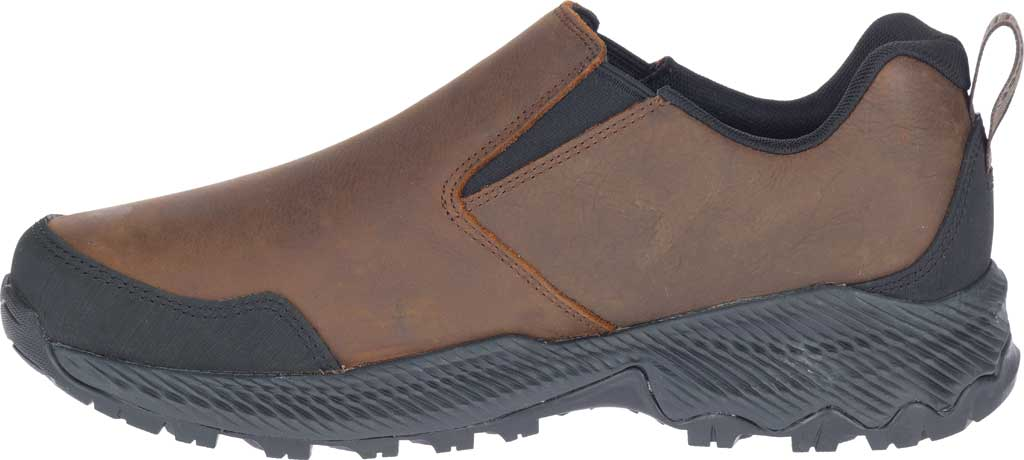 Men's Merrell Forestbound Moc Waterproof Slip On, Clay Polyurethane Coated Leather/Mesh, large, image 3