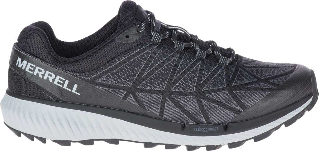 Women's Merrell Agility Synthesis 2 Trail Running Sneaker, Black Jacquard Fabric/TPU, large, image 2