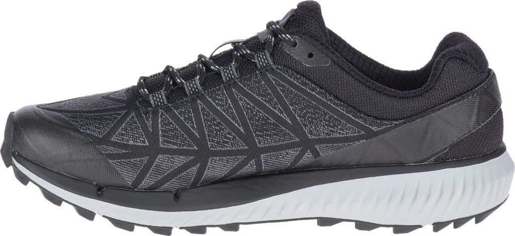 Women's Merrell Agility Synthesis 2 Trail Running Sneaker, Black Jacquard Fabric/TPU, large, image 3