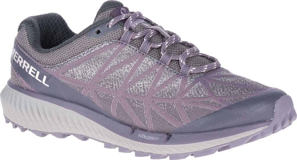Women's Merrell Agility Synthesis 2 Trail Running Sneaker, Shark Jacquard Fabric/TPU, large, image 1