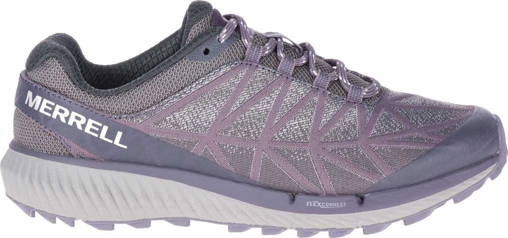 Women's Merrell Agility Synthesis 2 Trail Running Sneaker, Shark Jacquard Fabric/TPU, large, image 2