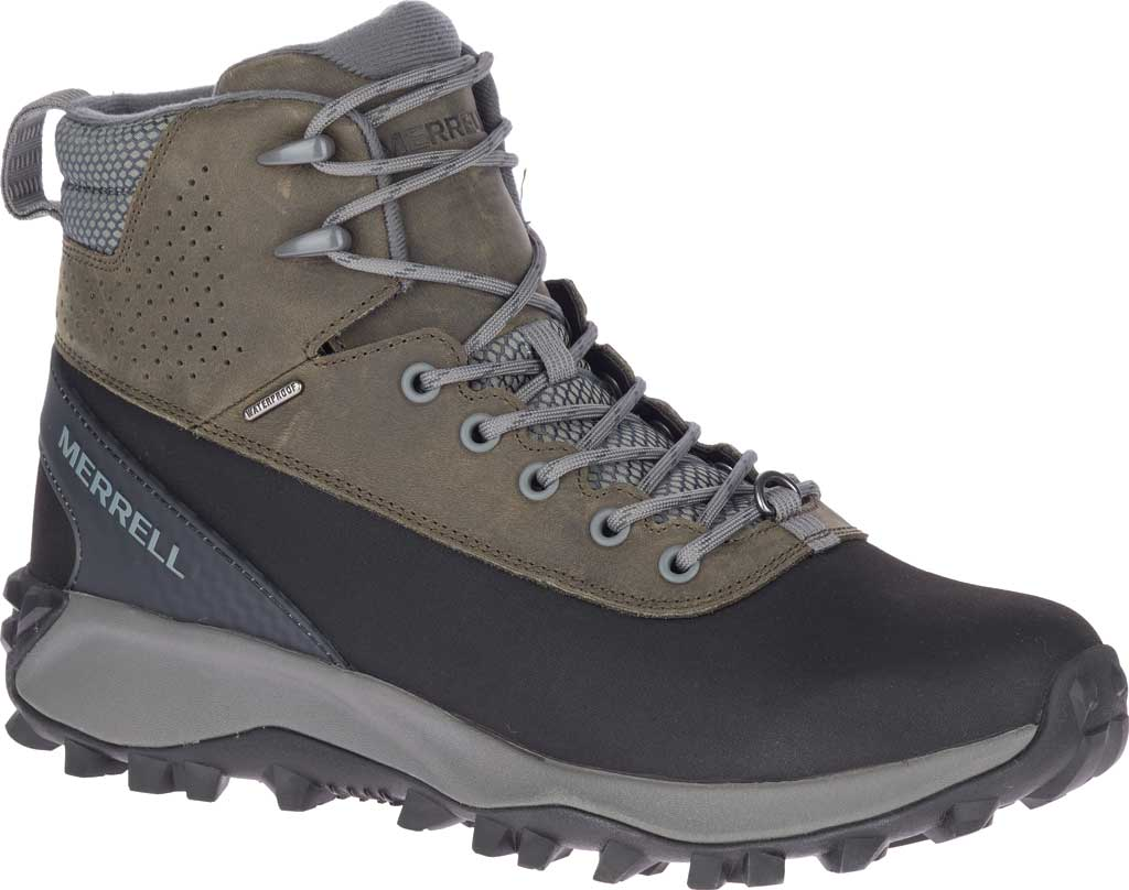 Men's Merrell Thermo Kiruna Mid Shell Waterproof Boot, Merrell Grey Waterproof Full Grain Leather, large, image 1