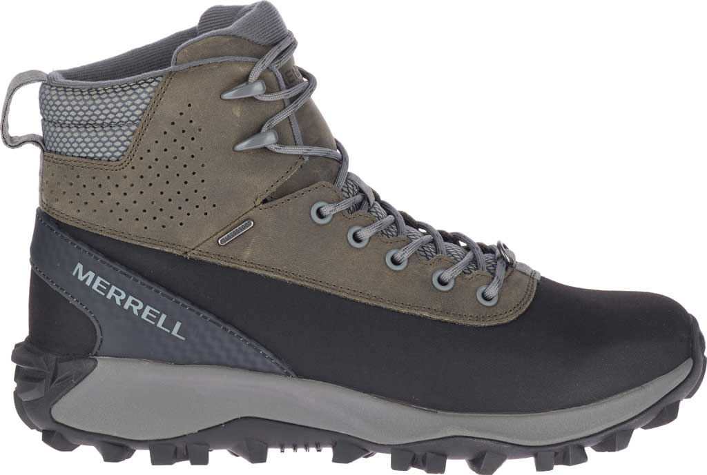 Men's Merrell Thermo Kiruna Mid Shell Waterproof Boot, Merrell Grey Waterproof Full Grain Leather, large, image 2