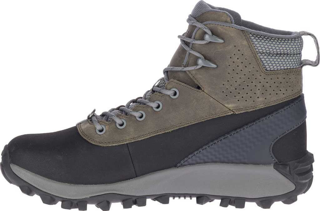 Men's Merrell Thermo Kiruna Mid Shell Waterproof Boot, Merrell Grey Waterproof Full Grain Leather, large, image 3