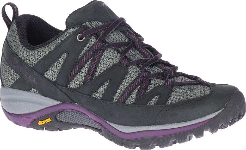 Women's Merrell Siren Sport 3 Trail Shoe, Black/Blackberry Mesh/Leather, large, image 1