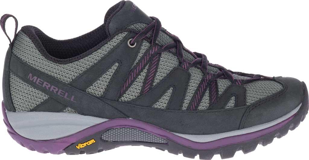 Women's Merrell Siren Sport 3 Trail Shoe, Black/Blackberry Mesh/Leather, large, image 2
