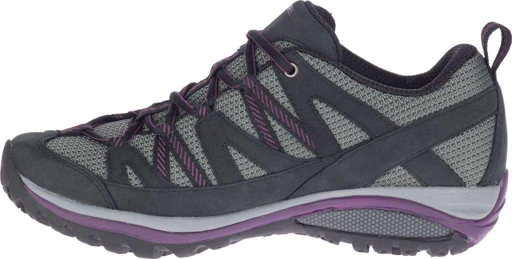 Women's Merrell Siren Sport 3 Trail Shoe, Black/Blackberry Mesh/Leather, large, image 3