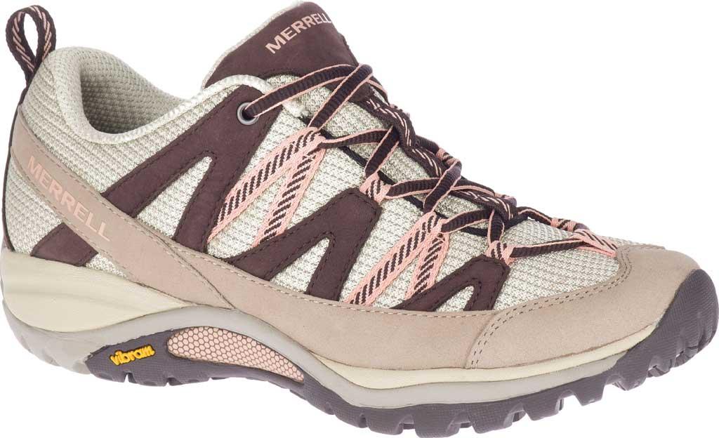 Women's Merrell Siren Sport 3 Trail Shoe, Moonrock/Peach Mesh/Leather, large, image 1