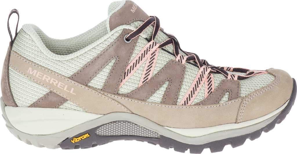 Women's Merrell Siren Sport 3 Trail Shoe, Moonrock/Peach Mesh/Leather, large, image 2