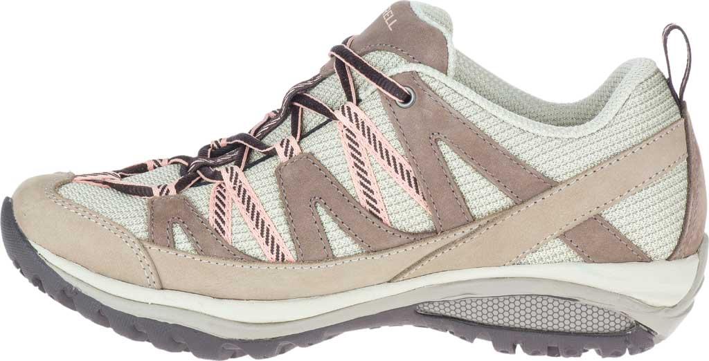 Women's Merrell Siren Sport 3 Trail Shoe, Moonrock/Peach Mesh/Leather, large, image 3
