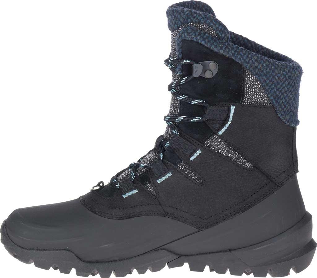Women's Merrell Thermo Aurora 2 Mid Shell Waterproof Boot, Black Waterproof Full Grain Leather/Wool, large, image 3