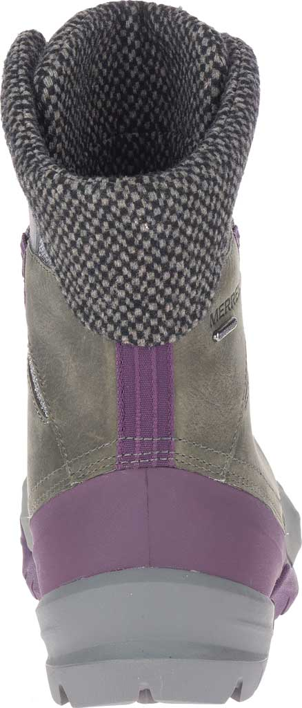Women's Merrell Thermo Aurora 2 Mid Shell Waterproof Boot, Merrell Grey Waterproof Full Grain Leather/Wool, large, image 4