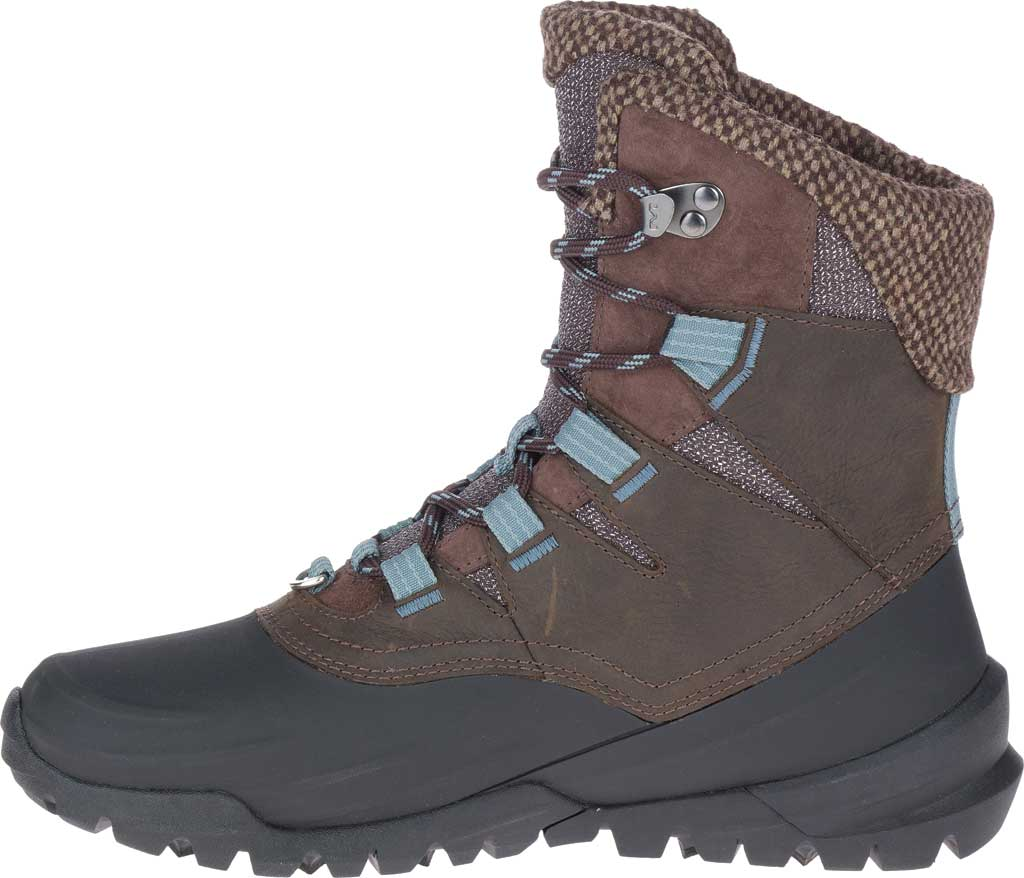 Women's Merrell Thermo Aurora 2 Mid Shell Waterproof Boot, Seal Brown Waterproof Full Grain Leather/Wool, large, image 3