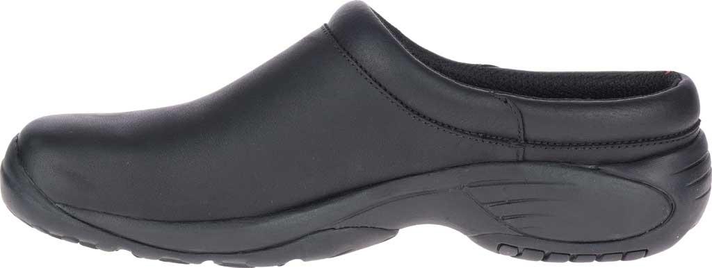 Men's Merrell Encore Gust 2 Slip On, Black Smooth Full Grain Leather/Mesh, large, image 3