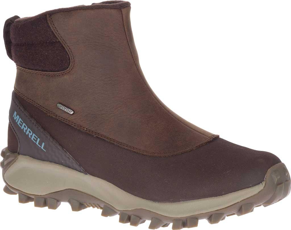 Women's Merrell Thermo Kiruna Mid Zip Waterproof Boot, Clay Waterproof Full Grain Leather, large, image 1