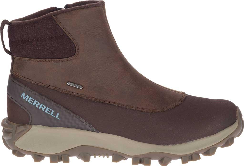 Women's Merrell Thermo Kiruna Mid Zip Waterproof Boot, Clay Waterproof Full Grain Leather, large, image 2