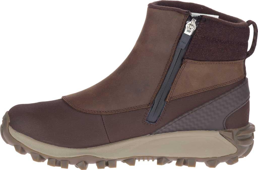 Women's Merrell Thermo Kiruna Mid Zip Waterproof Boot, Clay Waterproof Full Grain Leather, large, image 3