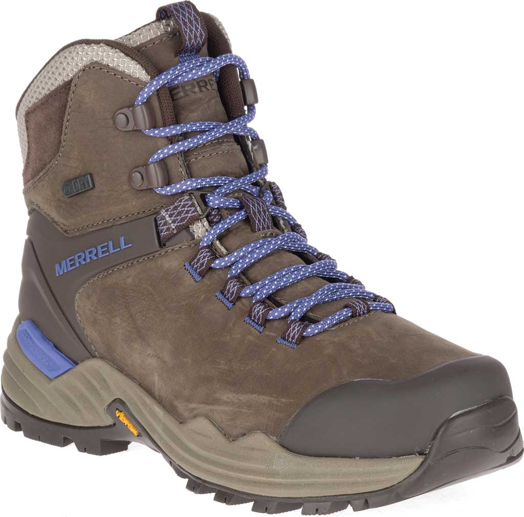 Women's Merrell Phaserbound 2 Tall Waterproof Hiking Boot, Boulder Full Grain Leather, large, image 1