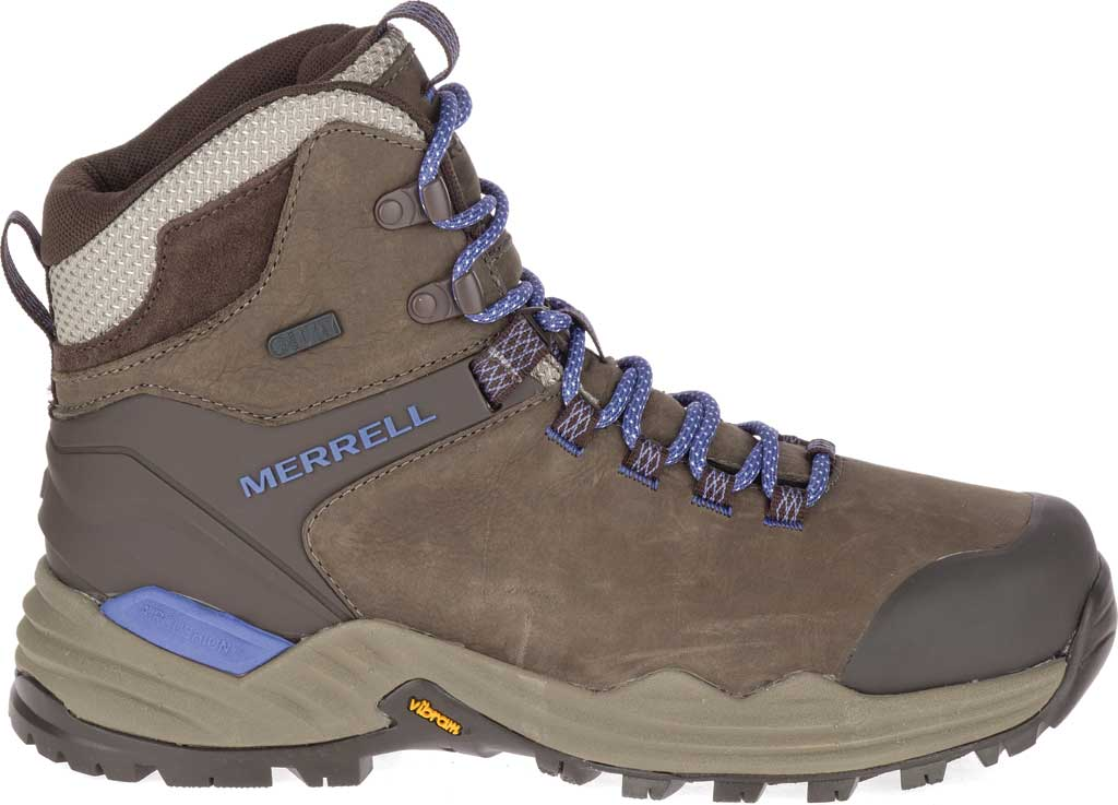 Women's Merrell Phaserbound 2 Tall Waterproof Hiking Boot, Boulder Full Grain Leather, large, image 2