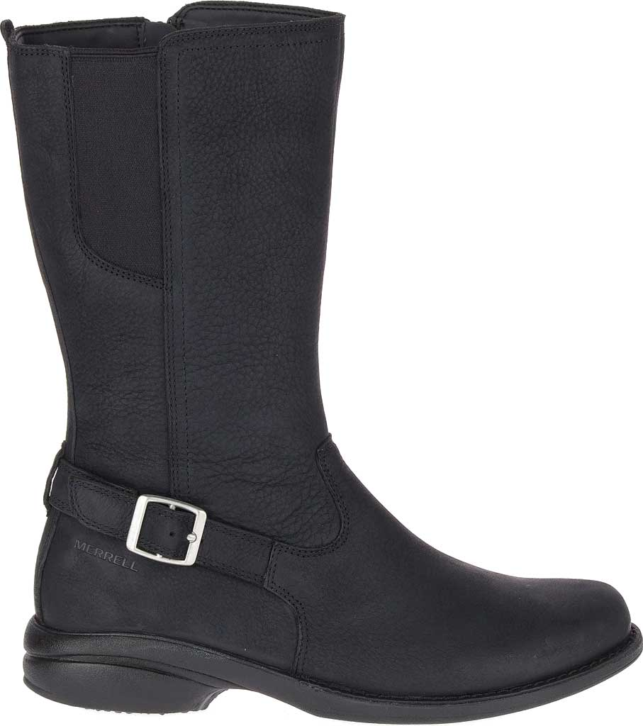 Women's Merrell Andover Peak Waterproof Boot, Black Waterproof Full Grain Leather, large, image 2