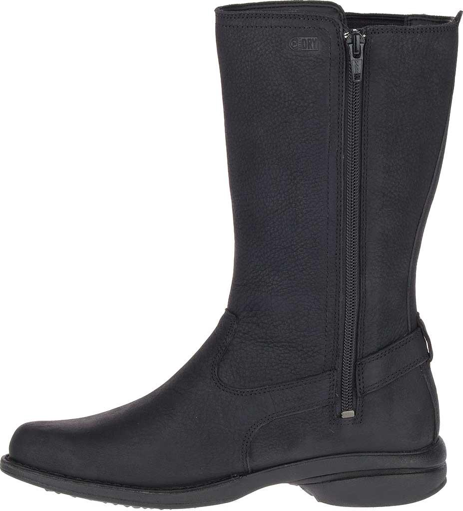 Women's Merrell Andover Peak Waterproof Boot, Black Waterproof Full Grain Leather, large, image 3