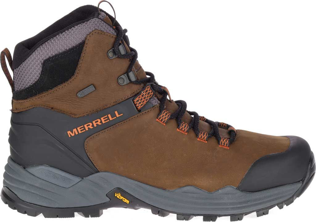 Men's Merrell Phaserbound 2 Tall Waterproof Hiking Boot, Dark Earth Full Grain Leather, large, image 2