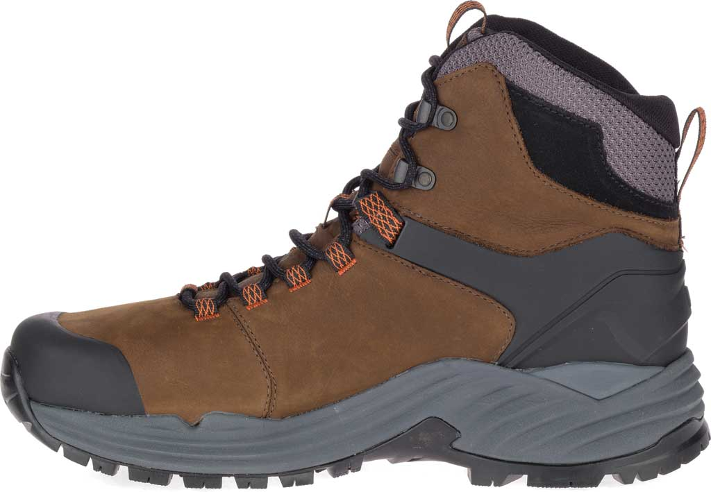 Men's Merrell Phaserbound 2 Tall Waterproof Hiking Boot, Dark Earth Full Grain Leather, large, image 3