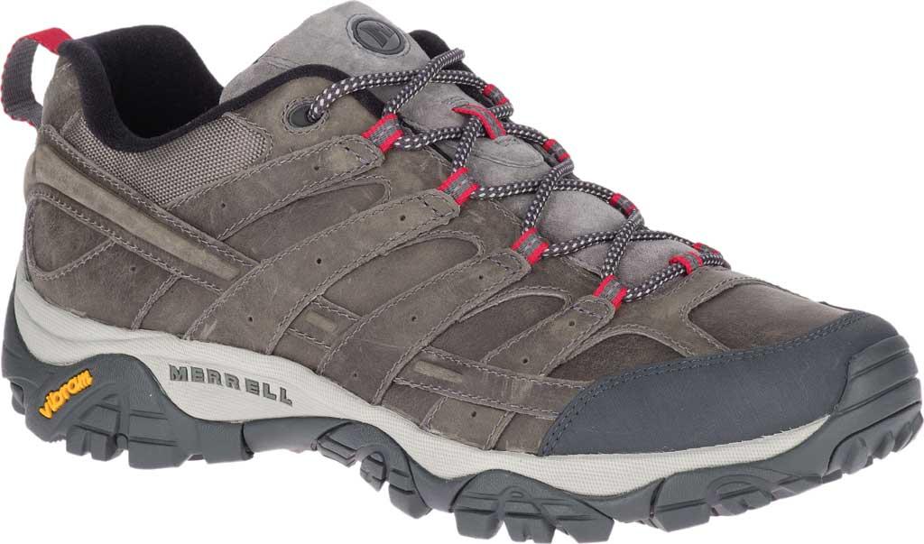 Men's Merrell Moab 2 Prime Hiking Shoe, Charcoal Full Grain Leather, large, image 1