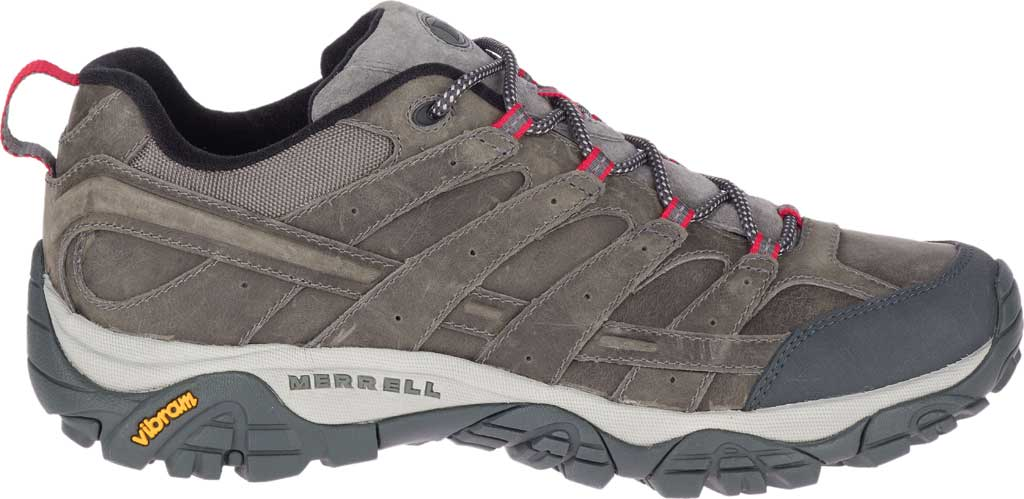 Men's Merrell Moab 2 Prime Hiking Shoe, Charcoal Full Grain Leather, large, image 2